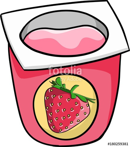 Stock photo and royalty. Yogurt clipart strawberry yogurt