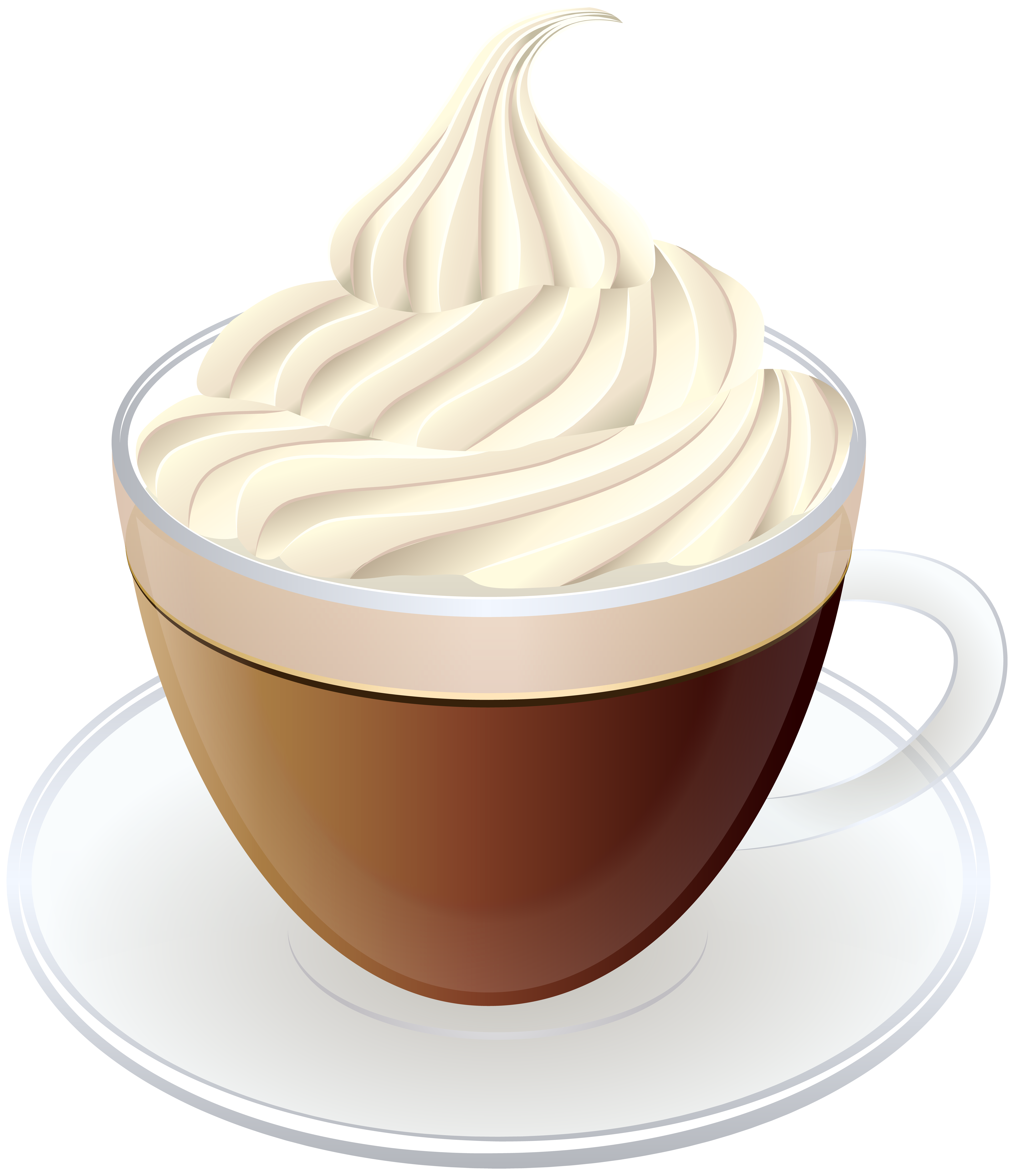 Yogurt clipart transparent background. Coffee with cream png