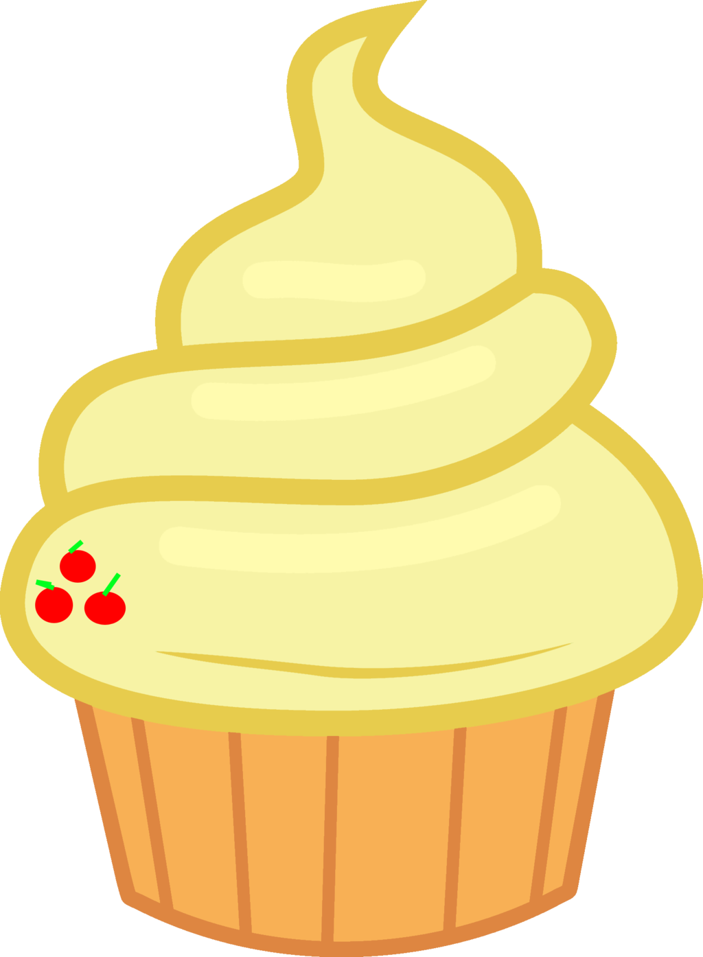Yogurt clipart vector. Applejack cupcake by magicdog