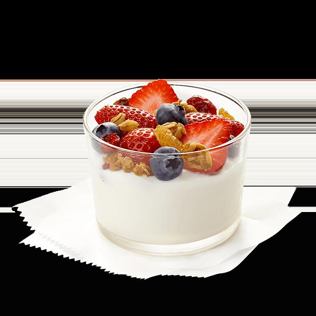 Chick fil a breakfast. Yogurt clipart yogurt bowl