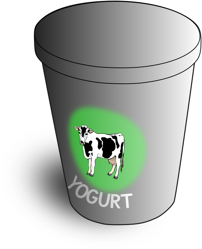 Yogurt clipart yogurt container. Medium image png