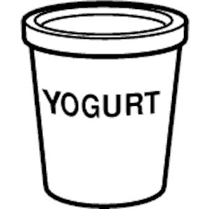 Yogurt clipart yogurt cup. Black and white free