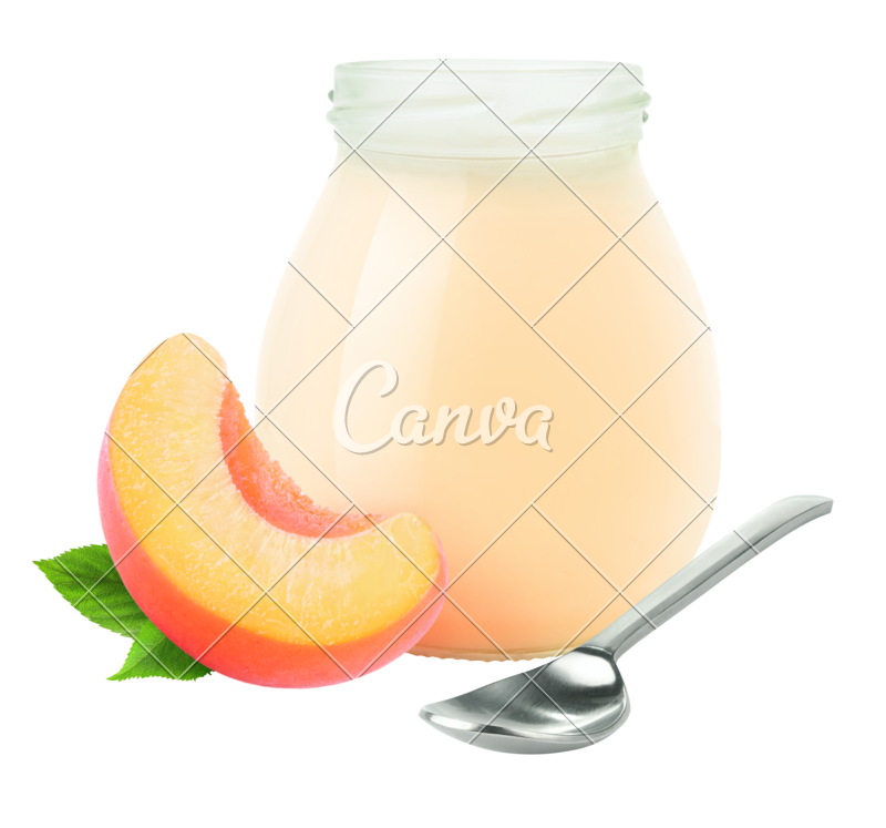 Yogurt clipart yogurt drink. Peach jar photos by