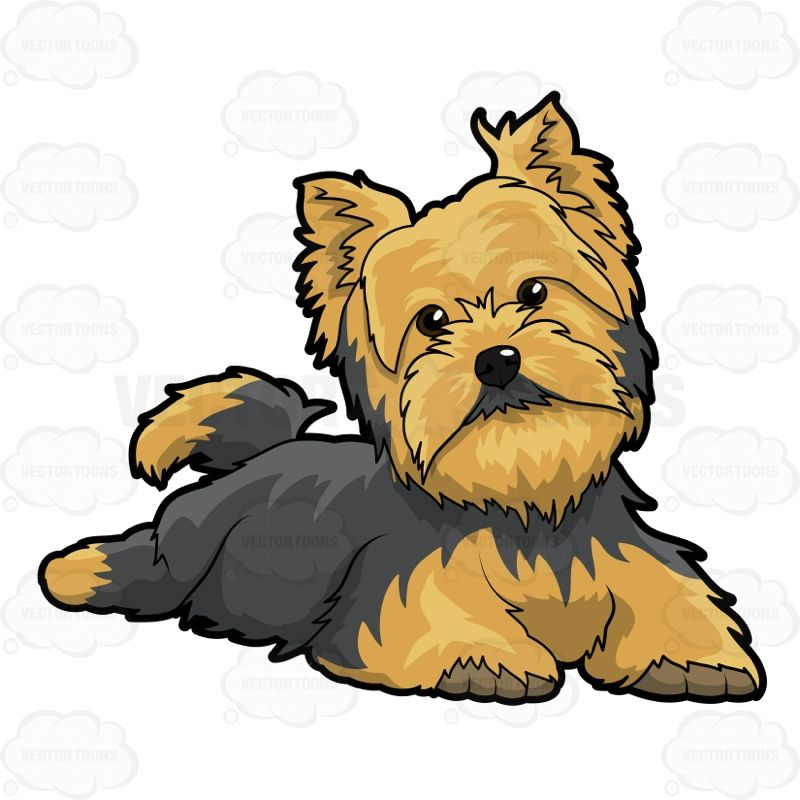 Little dogs and art. Yorkie clipart