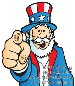 Illustration of uncle sam. You clipart