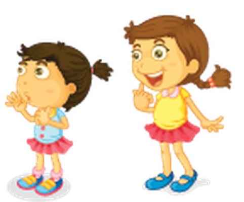 Young clipart. Different actions of a