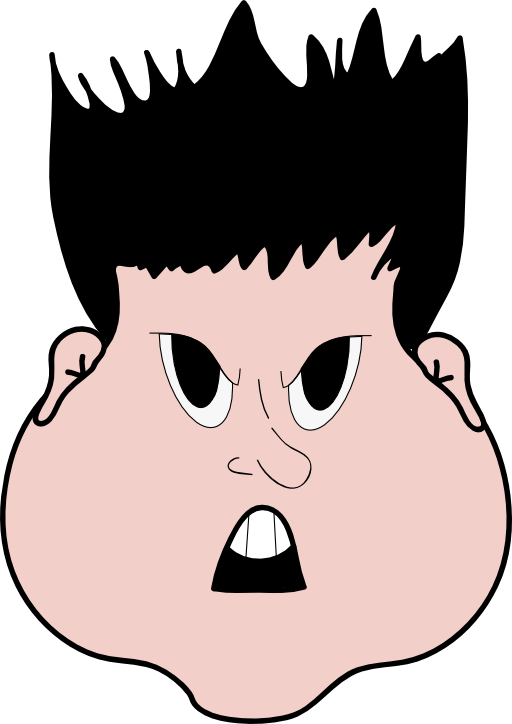 Young clipart angry. Boy i royalty free