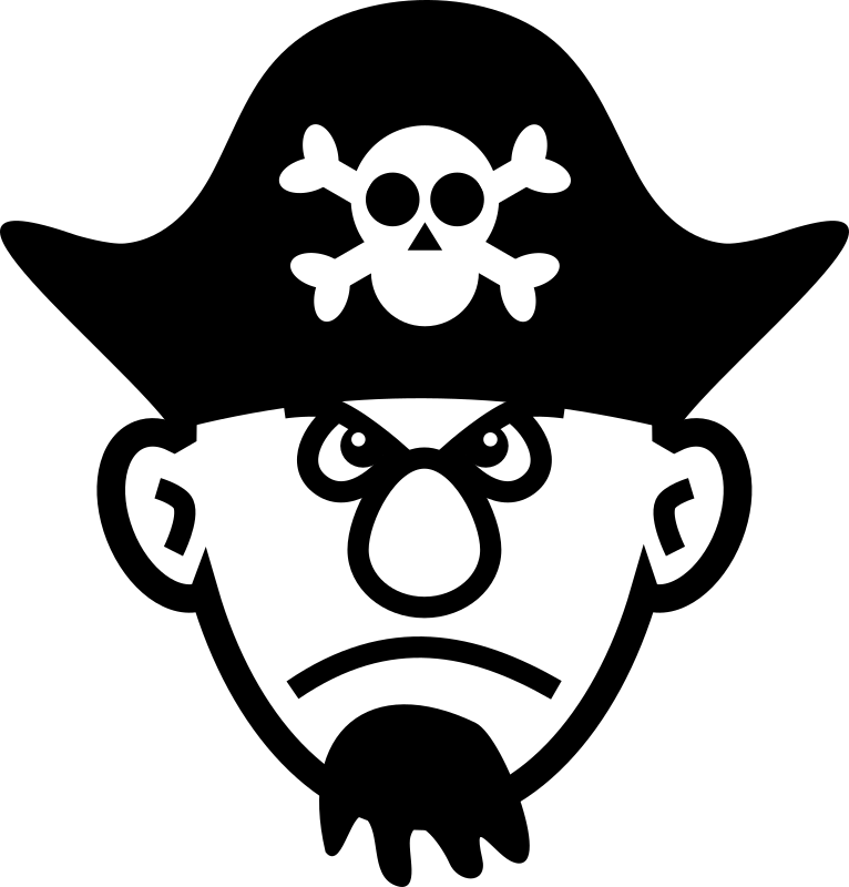 Angry pirate medium image. Young clipart animated