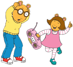 Young clipart annoying sister. Arthur s plays music