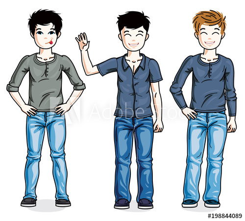 Young clipart beautiful family. Happy teenager boys posing