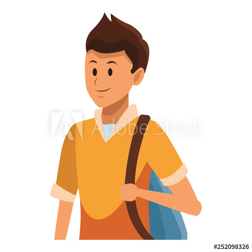 Young clipart boy portrait. Man avatar buy this