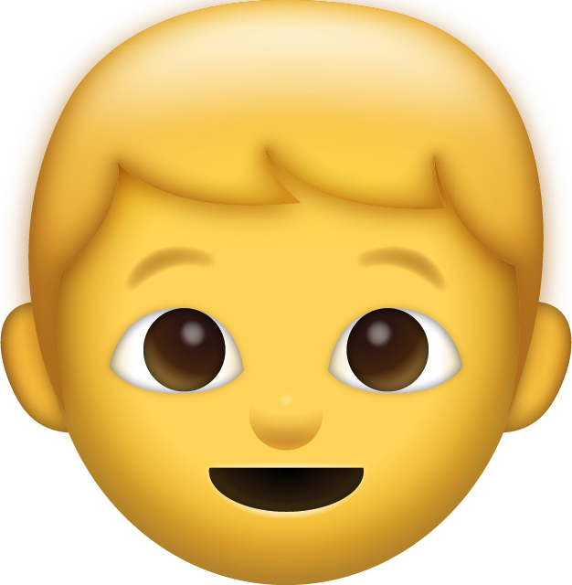 Young clipart brother face. Download boy iphone emoji
