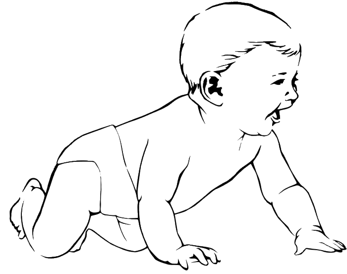 Young clipart crawl. A baby who is