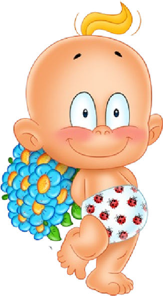 Young clipart cute baby. Hd with flowers cartoon