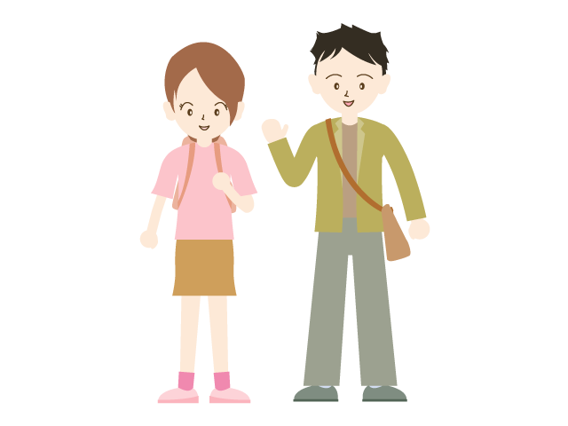 Young clipart dating couple. Free people material illustration