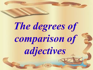 Young clipart degree adjective. Calam o the degrees
