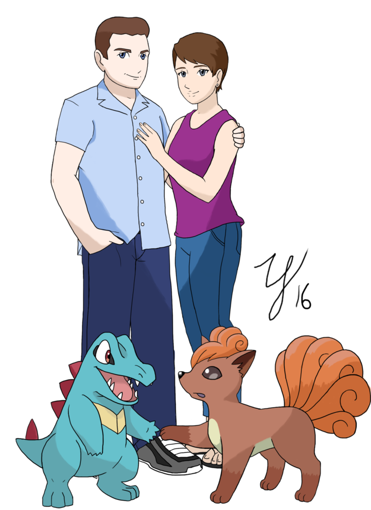 Young clipart family 6. Trainer couple dean and