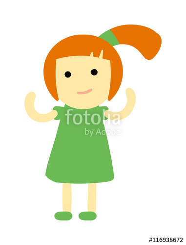Young clipart female child. Cute baby kid girl