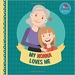 My nonna loves me. Young clipart grandparent child