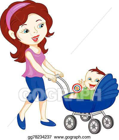 Young clipart human baby. Clip art vector mother