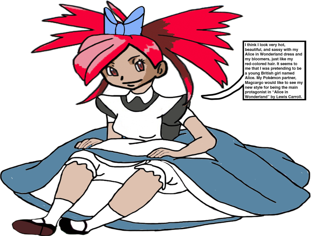 Flannery as little alice. Young clipart me girl