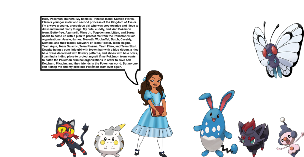 Young clipart precocious. Princess isabel s pokemon