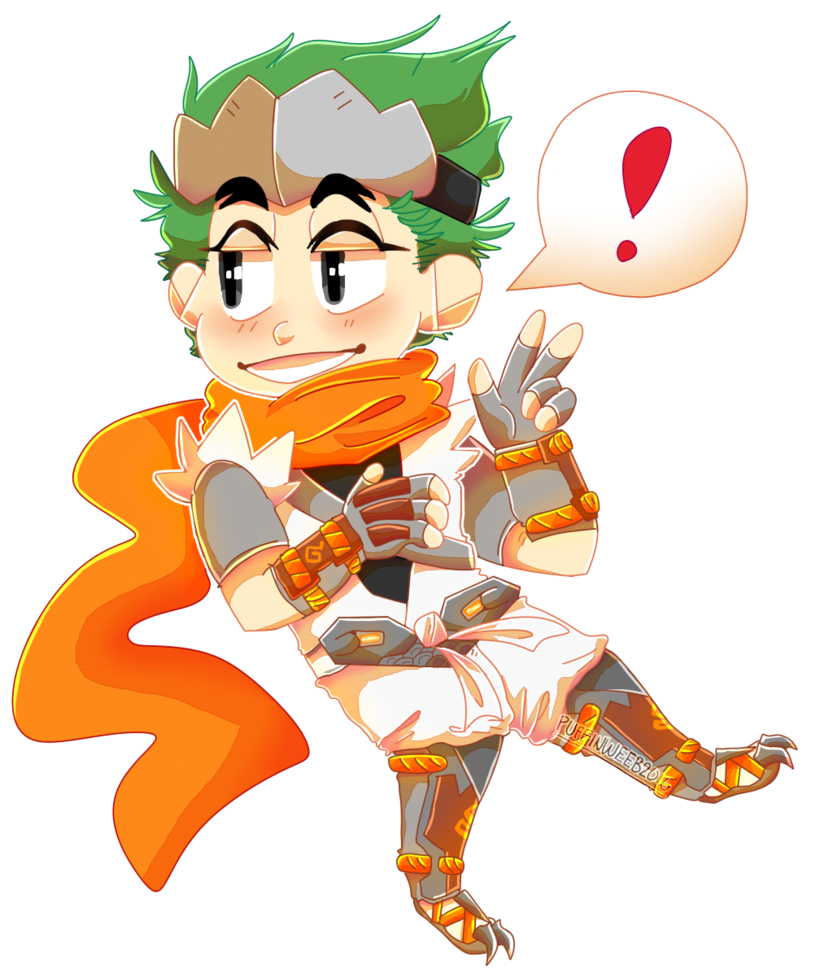 Young clipart random person. Genji by puffinweeb on