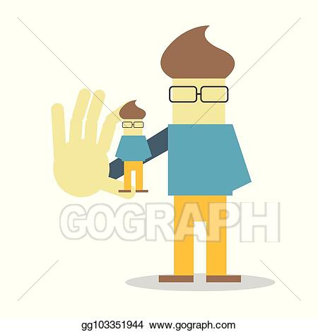 Young clipart self. Eps vector presentation character