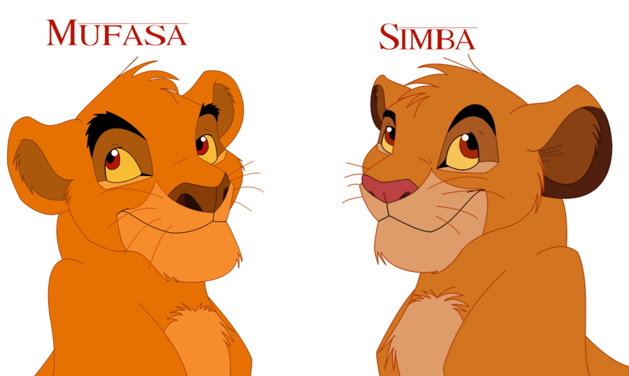 Young clipart simba cub. Mufasa comparison by demiidee
