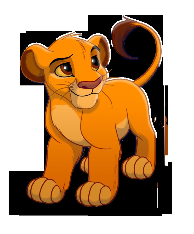 Young clipart simba cub. Cute by emilyjayowens on