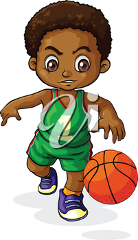 Young clipart small boy. Illustration of a playing
