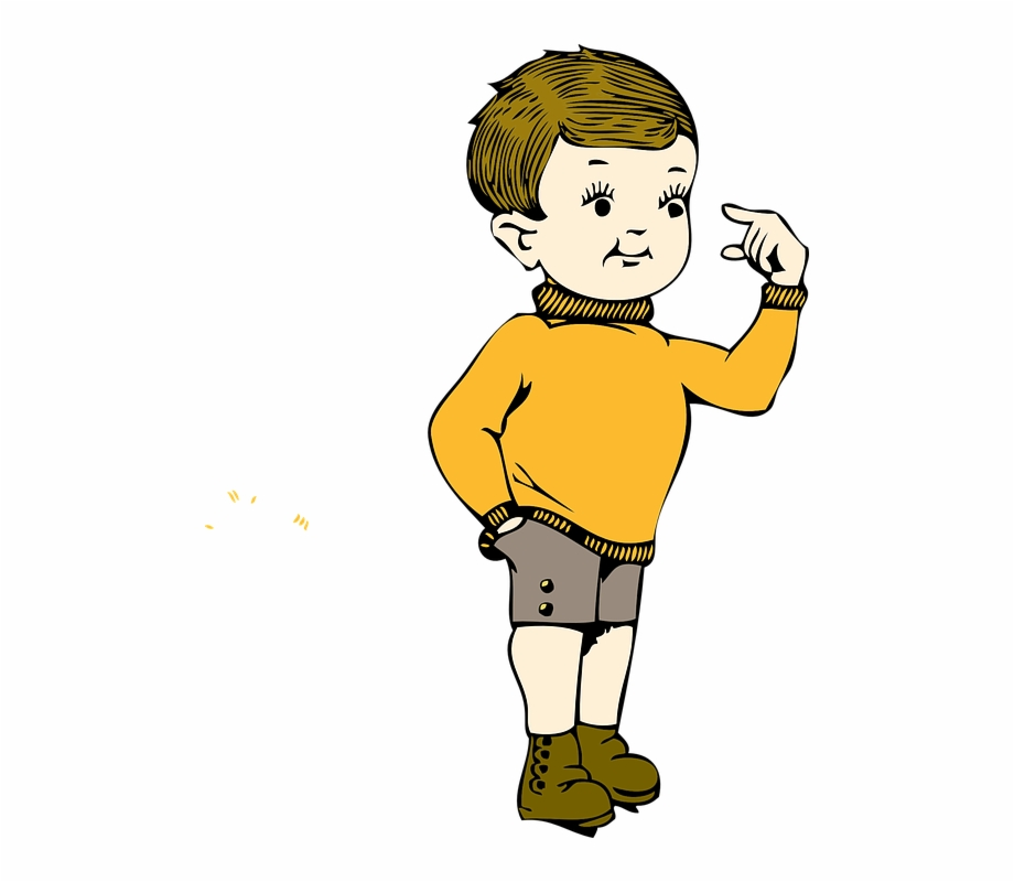 Young clipart small boy. Gesture hand chubby cheeks