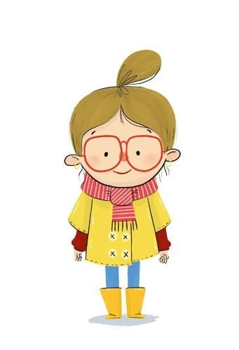 Ester garay illustration . Young clipart sweet person