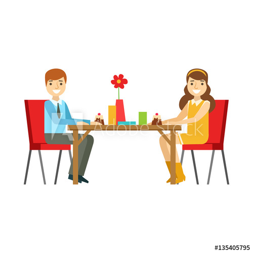 Young clipart sweet person. Couple on a date