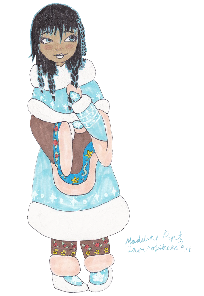 Young clipart three daughter. Of the snow queen