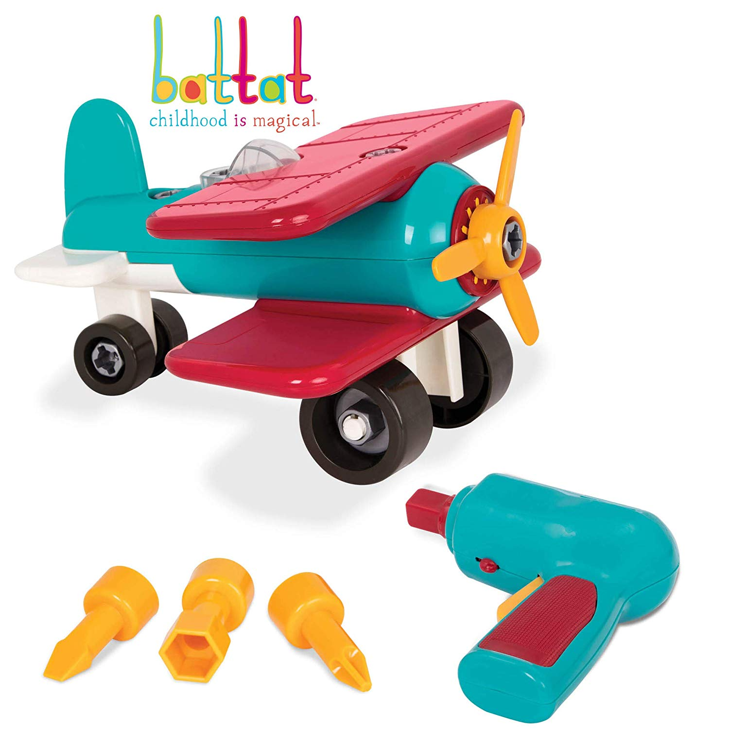Battat take apart colorful. Young clipart toy airplane