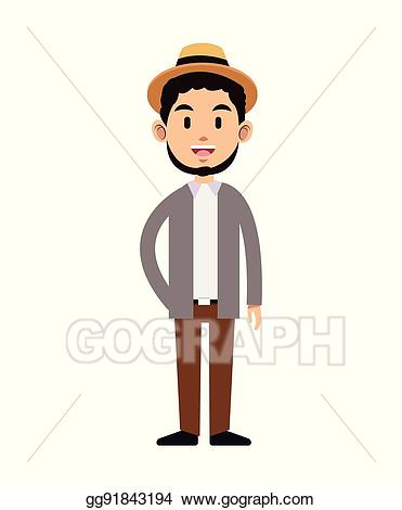 Clip art vector man. Young clipart young gentleman