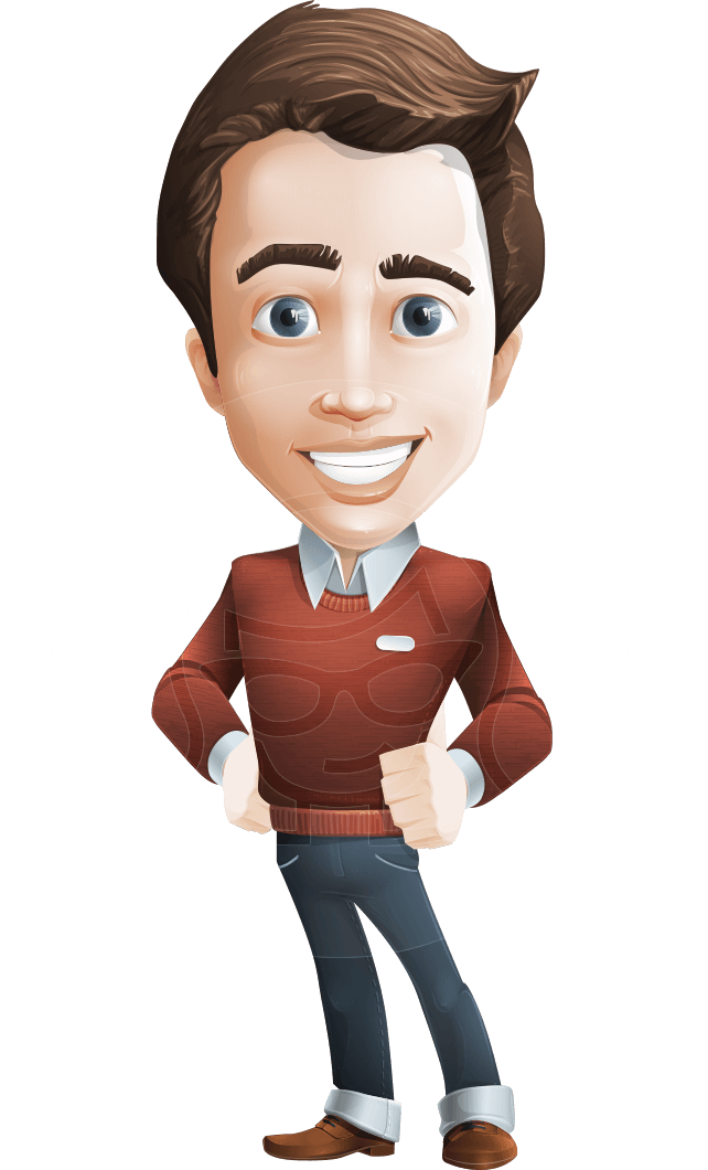 Young clipart young male. Businessman character with more