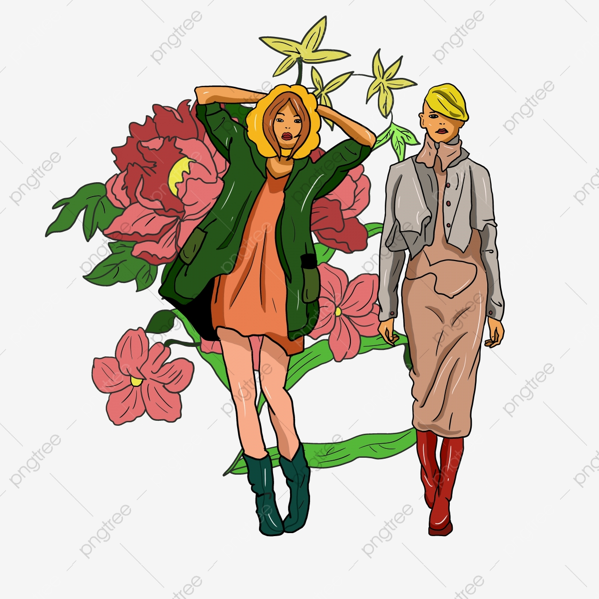 Young clipart young sibling. Two funny sisters trend