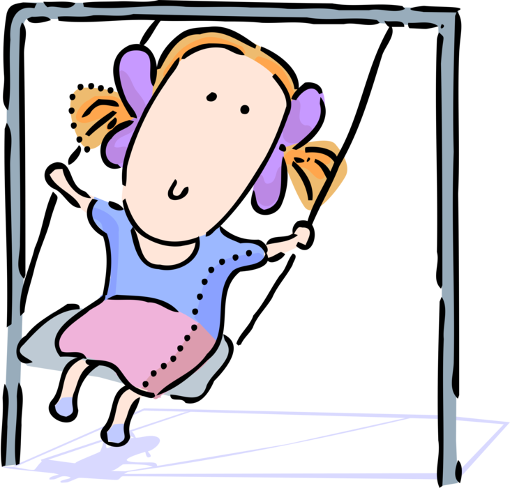 Young clipart youngster. Swings on playground swing