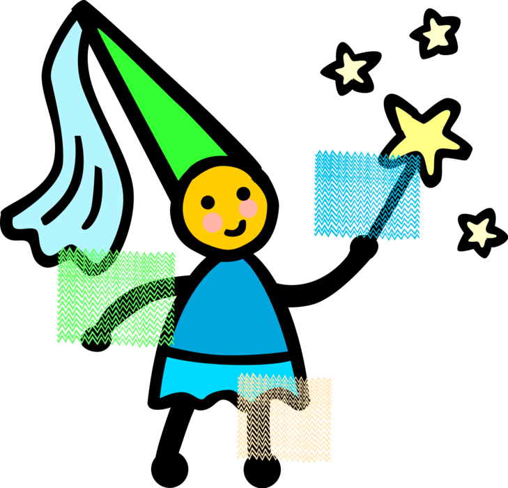 In fairy princess costume. Young clipart youngster