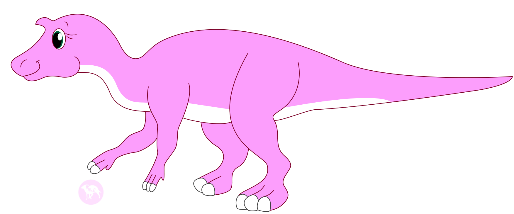 Casey the maiasaura by. Youtube clipart aesthetic