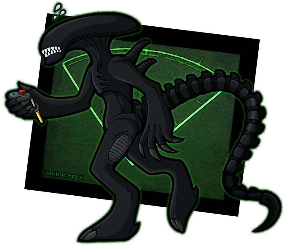 Alien isolated by doubleleggy. Youtube clipart creepy