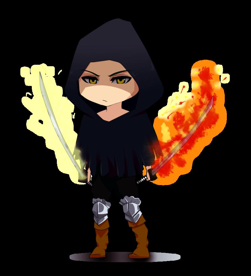 Chibi character by doruporu. Youtube clipart dark souls