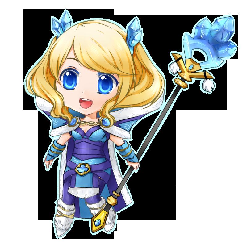 Dota 2: Blueheart Tails Crystal Maiden Chibi by seika on DeviantArt