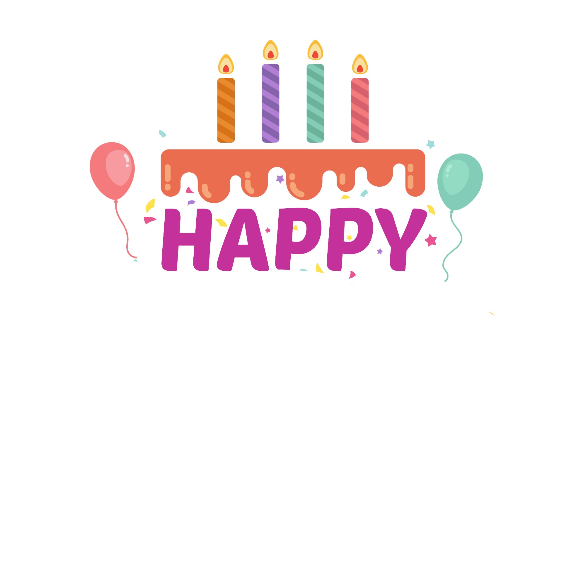 Happy birthday png transparent. Youtube clipart fifa