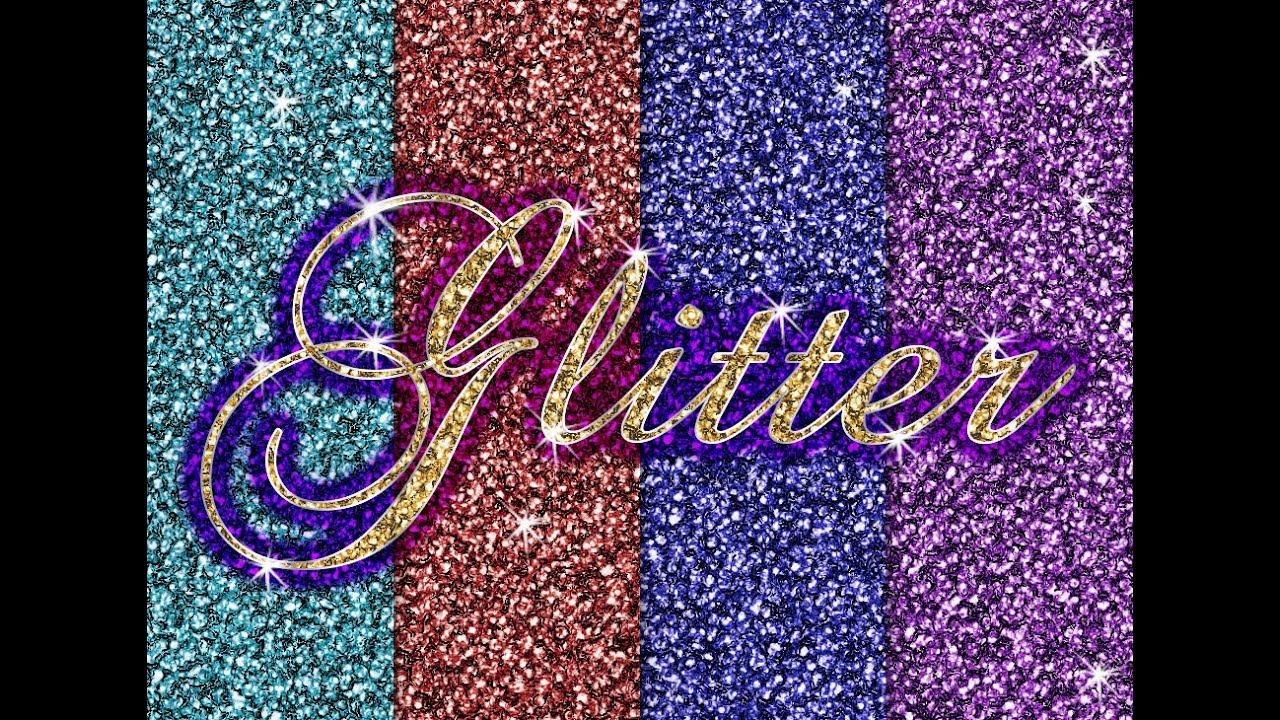 Youtube clipart glitter. Easy in photoshop for