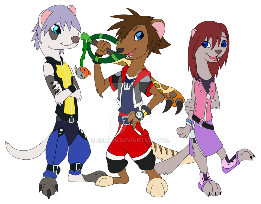 Youtube clipart kingdom hearts. Commission kh gang zootopia