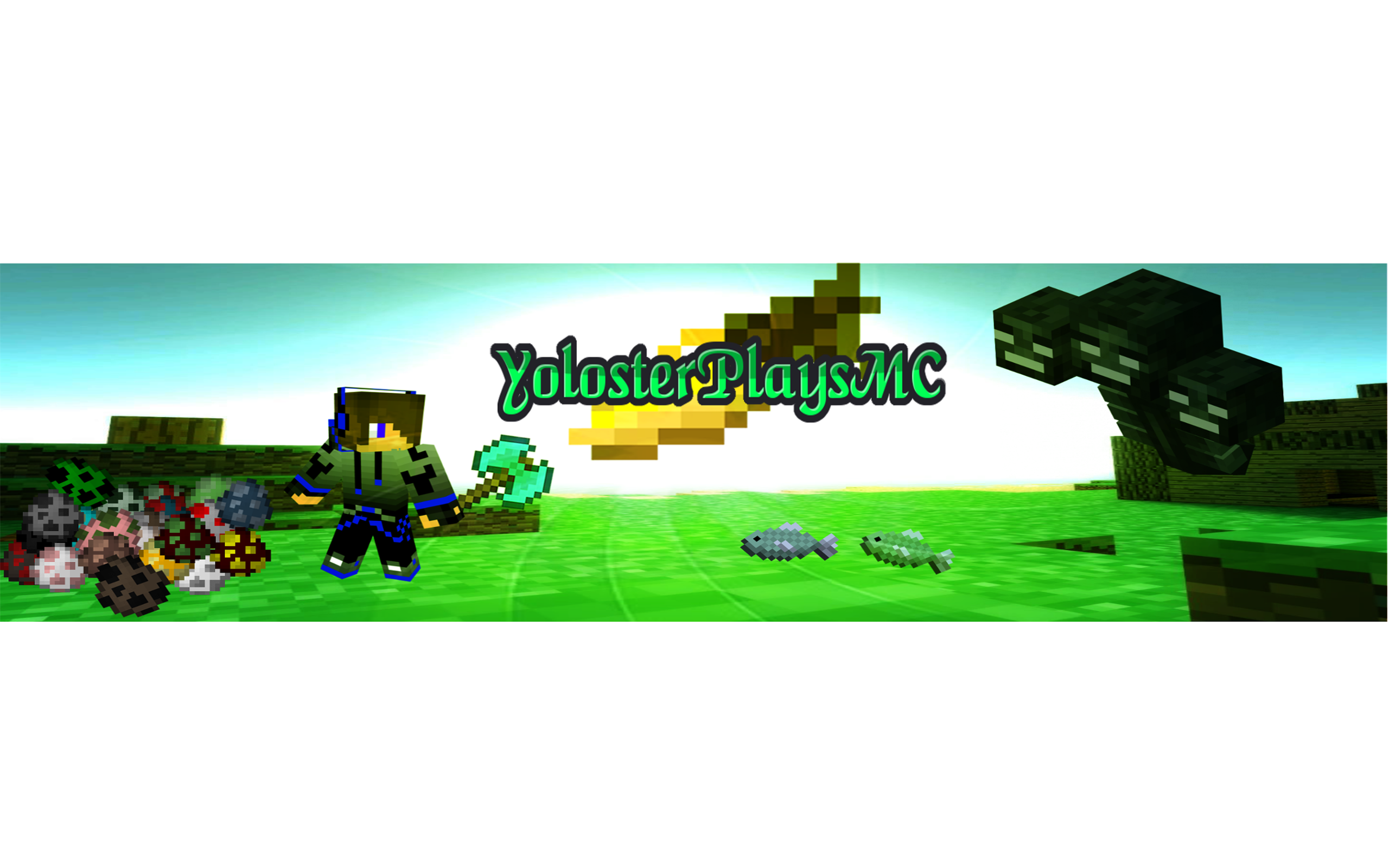 Appealing fashion banner channel. Youtube clipart minecraft