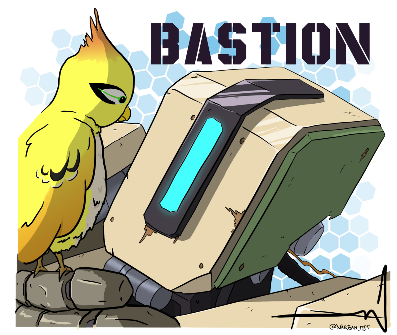 Bastion and ganimedes by. Youtube clipart overwatch